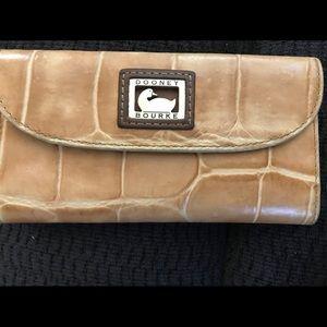 Dooney & Bourke Croco Checkbook Organizer Wallet